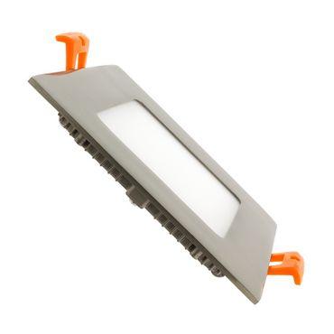 LED Einbaustrahler 6 Watt quadratisch 12x12cm Alu gebürstet - neutralweiß - dimmbar – Bild 1