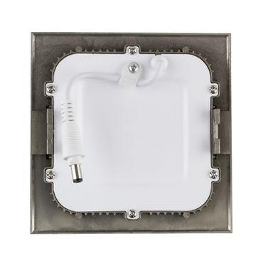 LED Einbaustrahler 6 Watt quadratisch 12x12cm Alu gebürstet - warmweiß - dimmbar – Bild 3