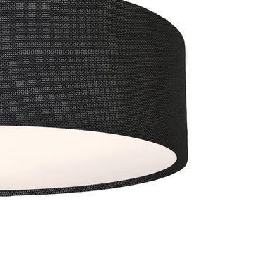 Deckenleuchte Textil rund, 39cm, schwarz Struktur, 3x E27 Fassung – Bild 2