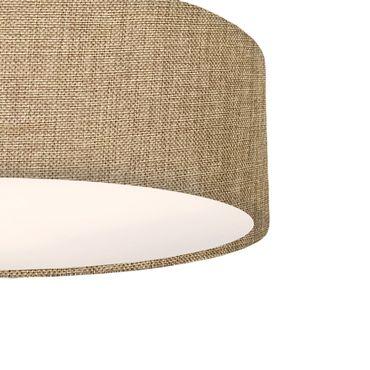 Deckenleuchte Textil rund, 39cm, sandfarben, 3x E27 Fassung – Bild 2