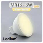 MR16 LED Reflektor 6 Watt 12V - warmweiß