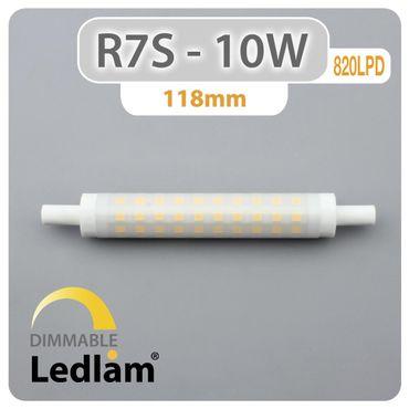 R7S LED Stab 10 Watt 118mm dimmbar - neutralweiß – Bild 3