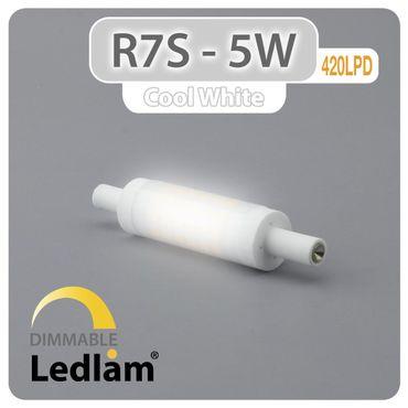 R7S LED Stab 5 Watt 78mm dimmbar - tageslichtweiß – Bild 1
