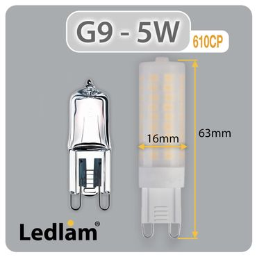 G9 LED Stiftsockel 5 Watt - warmweiß – Bild 4