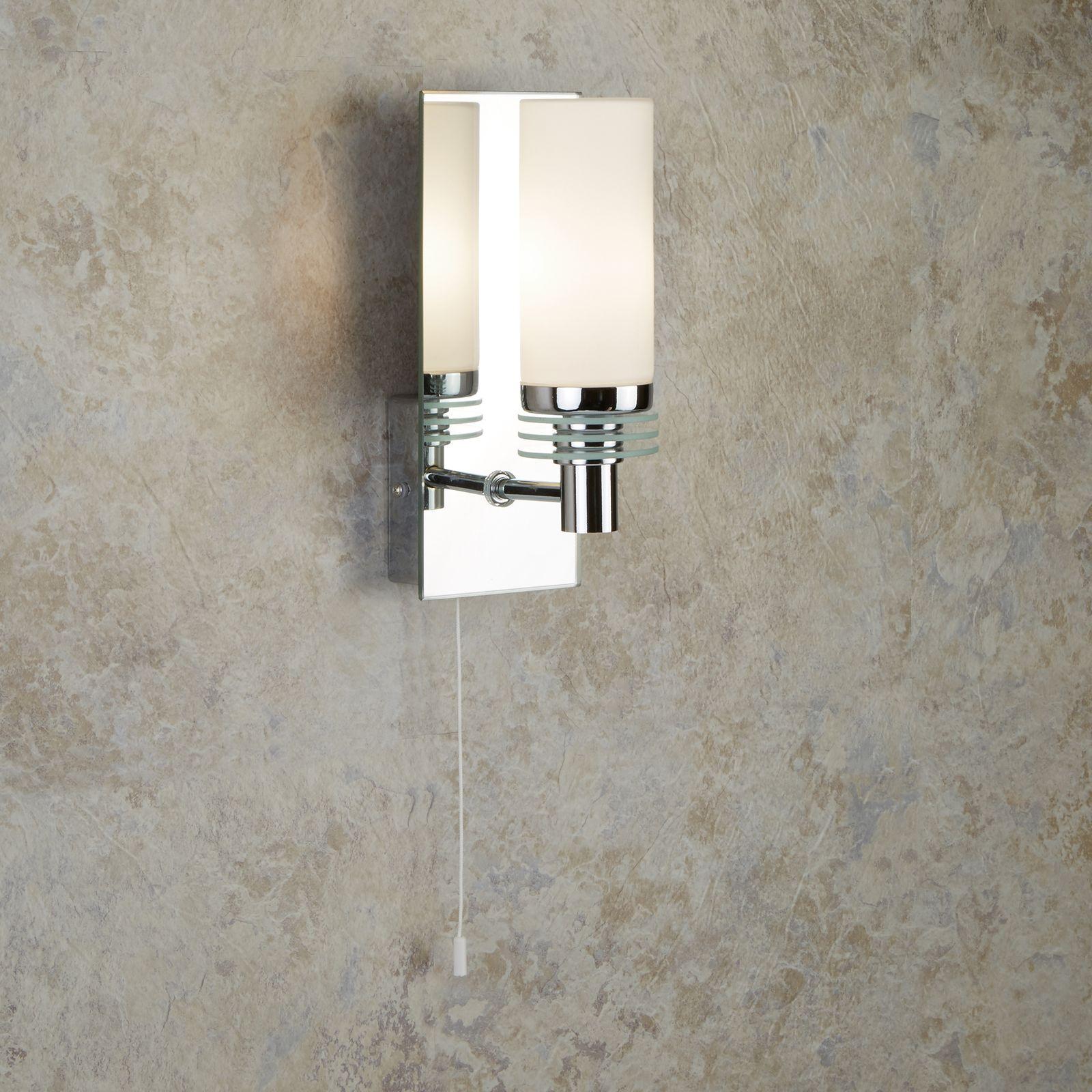led wandleuchte f rs bad chrom gespiegeltes glas rund. Black Bedroom Furniture Sets. Home Design Ideas