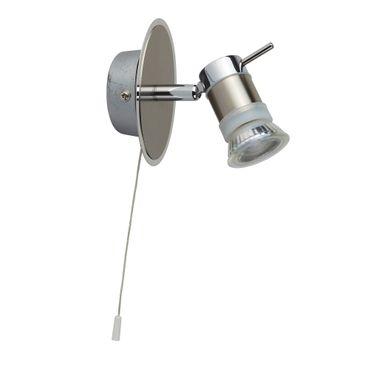 LED Wandleuchte mit Spot, Chrom & Satin Silber, warmweiß – Bild 2