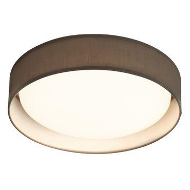 LED Deckenleuchte, Grau, Textil, Weißes Polycarbonat – Bild 1