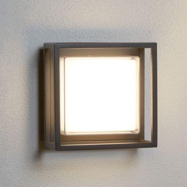LED Außenleuchte für Decke oder Wand, Dunkelgrau, Aluguss – Bild 2