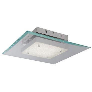 LED Deckenleuchte, Umbaubar zu Deckenleuchte, Glas, Chrom – Bild 1