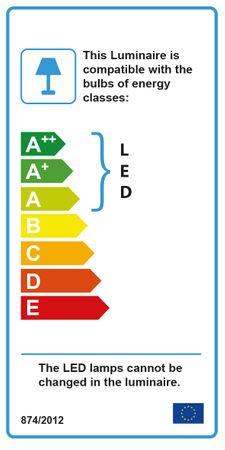 LED Standleuchte, Chrom, Glas, 2 wellige Leuchtarme – Bild 3