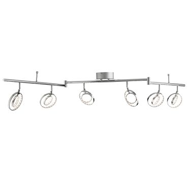 LED Deckenleuchte, Verstellbar, Chrom, 12 Ringe – Bild 1