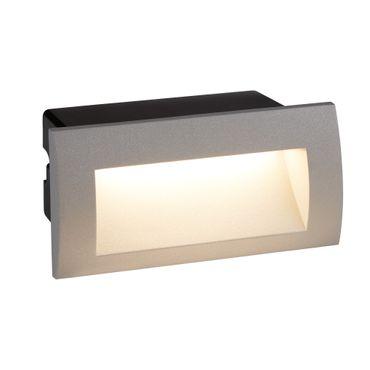LED Einbauleuchte für Innen/Außenbereich, Aluguss, Grau – Bild 1