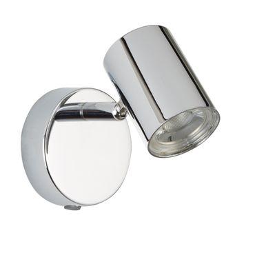LED Wandleuchte, Zylinderkopf, poliertes Chrom, warmweiß – Bild 2