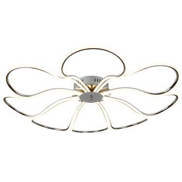 LED Deckenleuchte, Blumenförmig, Chrom, Acrylglas – Bild 1