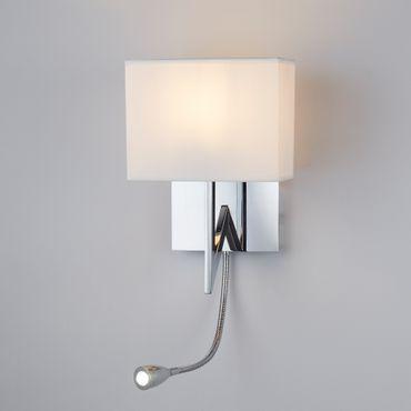 LED Wandleuchte, Flexibler Arm, Chrom, Weißes Glas – Bild 4
