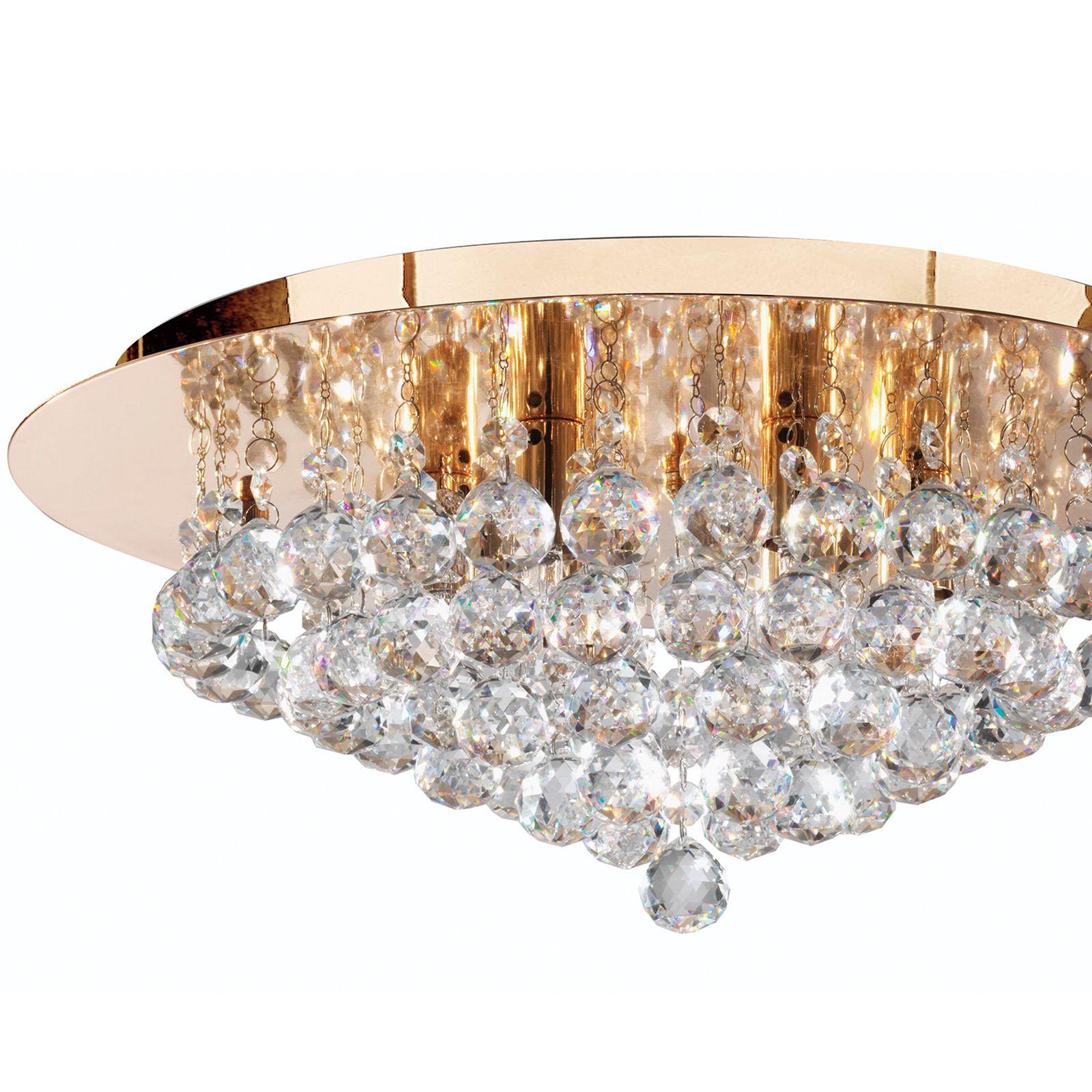 deckenleuchte hanna gold glas rund 6 leuchtmittel. Black Bedroom Furniture Sets. Home Design Ideas