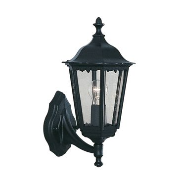 Wandlampe für Außenbereich, Laterne, Schwarz – Bild 1