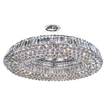 Pendelleuchte, Ringförmig, Glaskugeln, Chrom – Bild 1