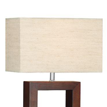 Braune Tischlampe, Holz – Bild 2