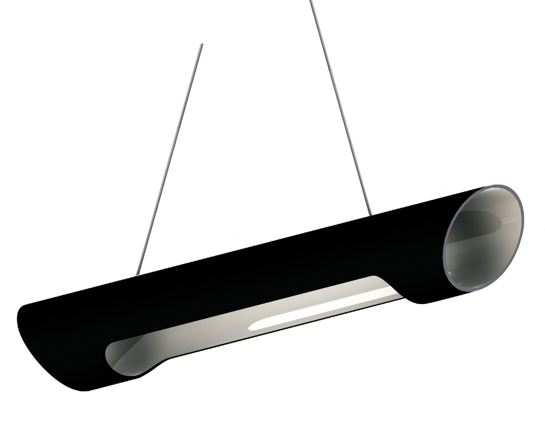 led design lampe pendelleuchte r hrenf rmig schwarz wei stahl. Black Bedroom Furniture Sets. Home Design Ideas