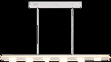 LED Design Lampe Pendelleuchte, Stabförmig, Weiß, Aluminium, Dimmer – Bild 1