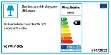 LED Design Leuchte Zwirbeloptik lang geschwungen XL Silber satiniert dimmbar mit Fernbedienung - Rückläufer – Bild 5