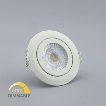 Einbauspot LED 5 Watt 3-STUFEN dimmbar - weiß - warmweiß – Bild 6