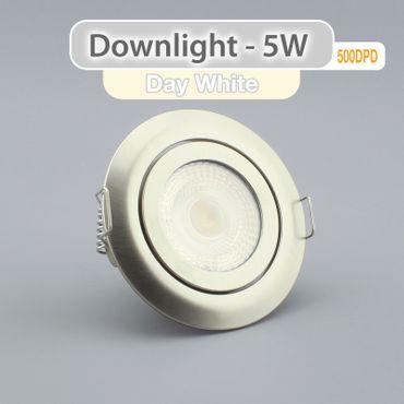 Einbauspot LED 5 Watt 3-STUFEN dimmbar - alu gebürstet - warmweiß – Bild 3