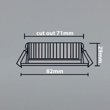 Einbauspot LED 5 Watt 3-STUFEN dimmbar - alu gebürstet - warmweiß – Bild 5