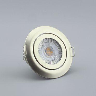 Einbauspot LED 5 Watt 3-STUFEN dimmbar - alu gebürstet - warmweiß – Bild 1