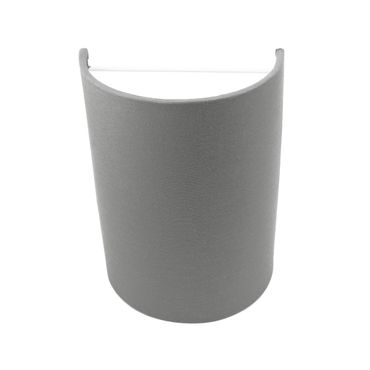 Wandleuchte Textil Silber Grau – Bild 1