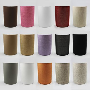 Wandleuchte Textil Silber Grau – Bild 3