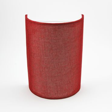 Wandleuchte Textil dunkelrot – Bild 2
