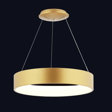 LED Pendelleuchte Ringform Gold Matt Rose – Bild 4