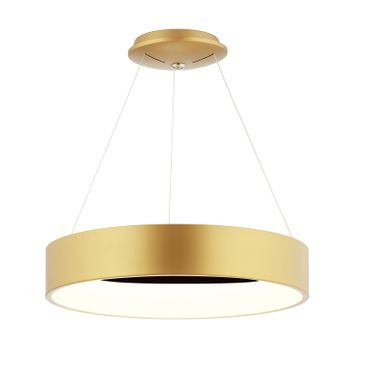 LED Pendelleuchte Ringform Gold Matt Rose – Bild 1
