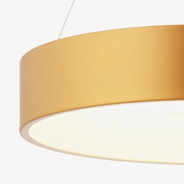 LED Pendelleuchte Ringform Gold Matt Rose – Bild 2