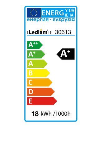 LED Einbaustrahler Panel silber rund Ø 22cm 18 Watt warmweiß dimmbar mit Led Dimmer – Bild 5