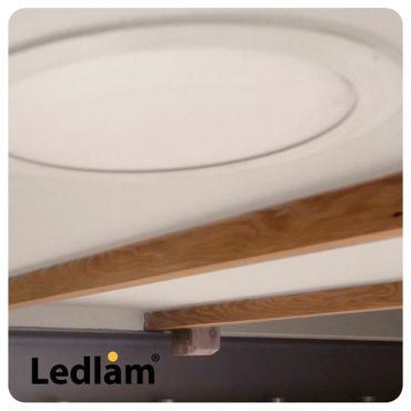 LED Einbaustrahler Panel silber rund Ø 22cm 18 Watt tageslichtweiß dimmbar mit Led Dimmer – Bild 8