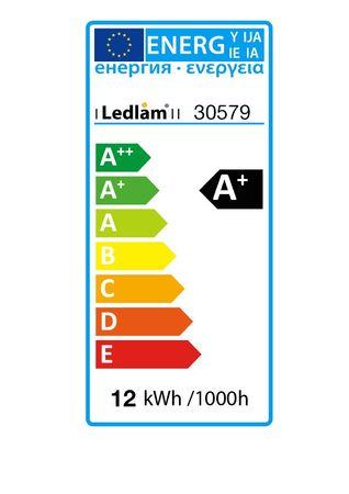 LED Deckenleuchte silber rund Ø 17cm 12 Watt (80 Watt) 960 Lumen 4100K neutralweiß – Bild 5