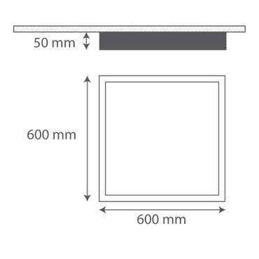 LED Deckenleuchte quadratisch 60*60cm 40 Watt (250 Watt) 3600 Lumen 4100K neutralweiß – Bild 2