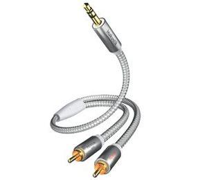 Inakustik Premium MP3 Audiokabel 5m  3,5Klinke-2x Chinch 410005
