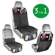 Kombinierte Autositzauflage Babies1st, 3-in-1 Autositz-Schoner | entweder Kindersitzunterlage oder Unterlage für Kindersitzerhöhung + Rückenlehnenschutz Isofix geeignet