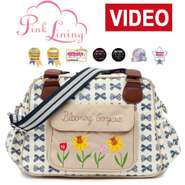 Pink Lining Blooming Gorgeous Navy Bows Wickeltasche 001