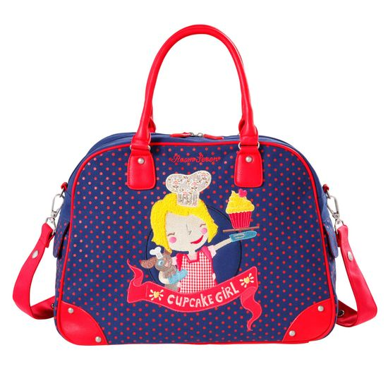 Room Seven Wickeltasche Cupcake Girl Embroidery Blau F147001