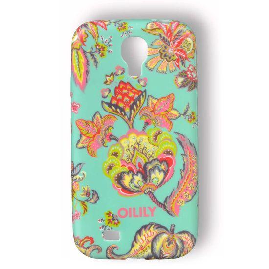 Oilily Summer Flowers Samsung Galaxy S4 Hülle Case Aqua