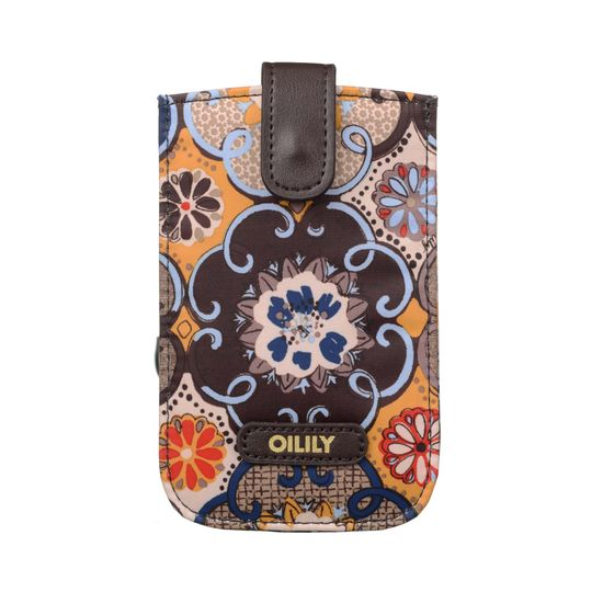 Oilily Abbey Tiles Handytasche Smartphone Hülle Pull Case Mustard
