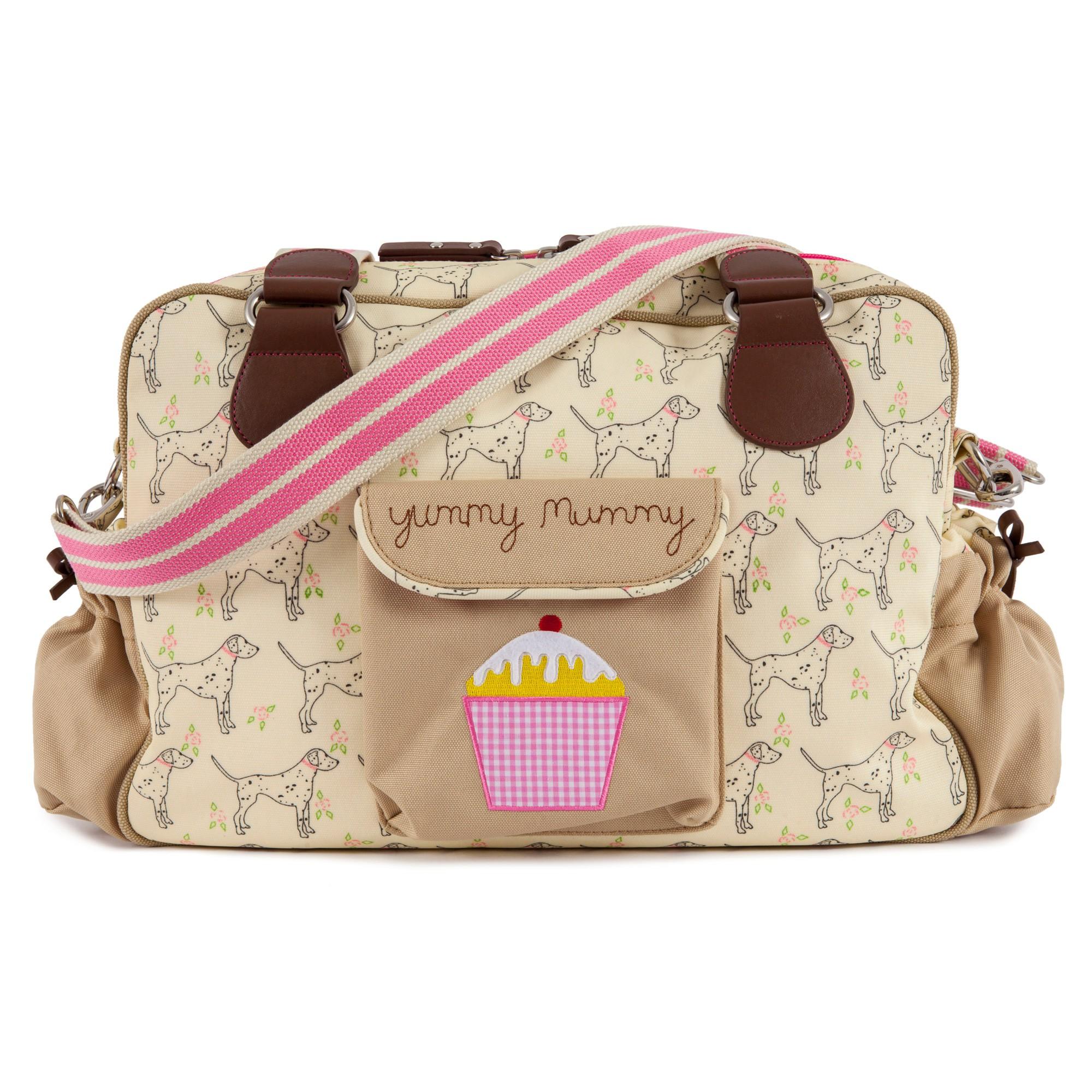 yummy mummy dalmatian pink lining wickeltasche yummy mummy. Black Bedroom Furniture Sets. Home Design Ideas