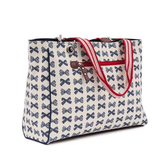 Pink Lining On the Go Handtasche Bramley Tote Navy Bows