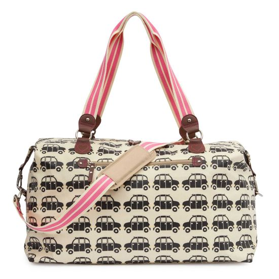 Pink Lining Holdall Bridget Jones London Cabs Reisetasche