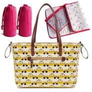 Pink Lining Notting Hill Tote Wickeltasche Yellow Taxis